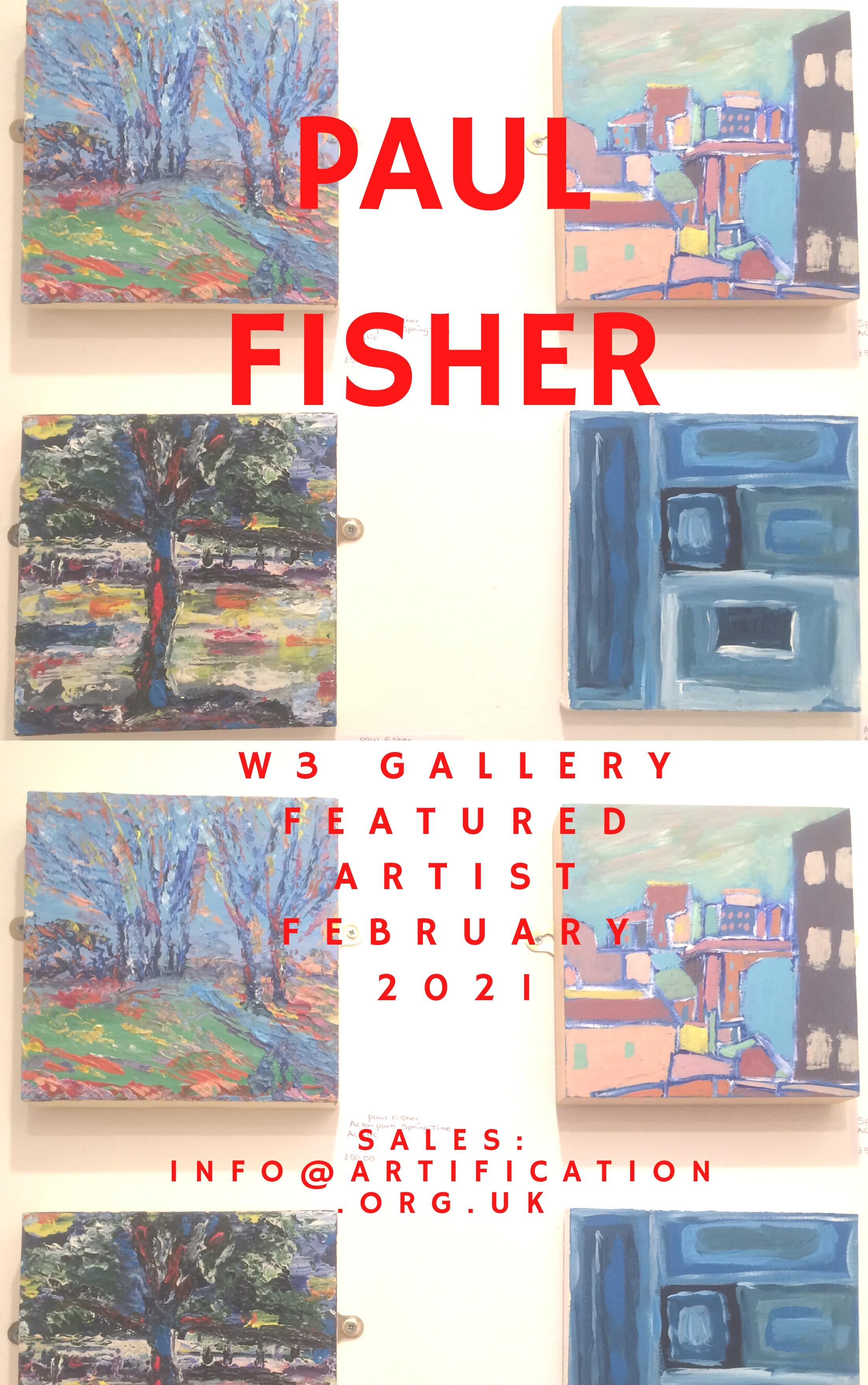 Paul Fisher solo art exhibition