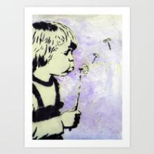 Boy with dandelion is my picture tag